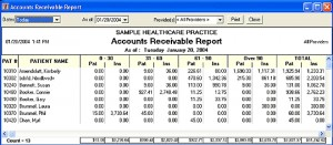 Practice Managment Report-Aging Accounts Receivable